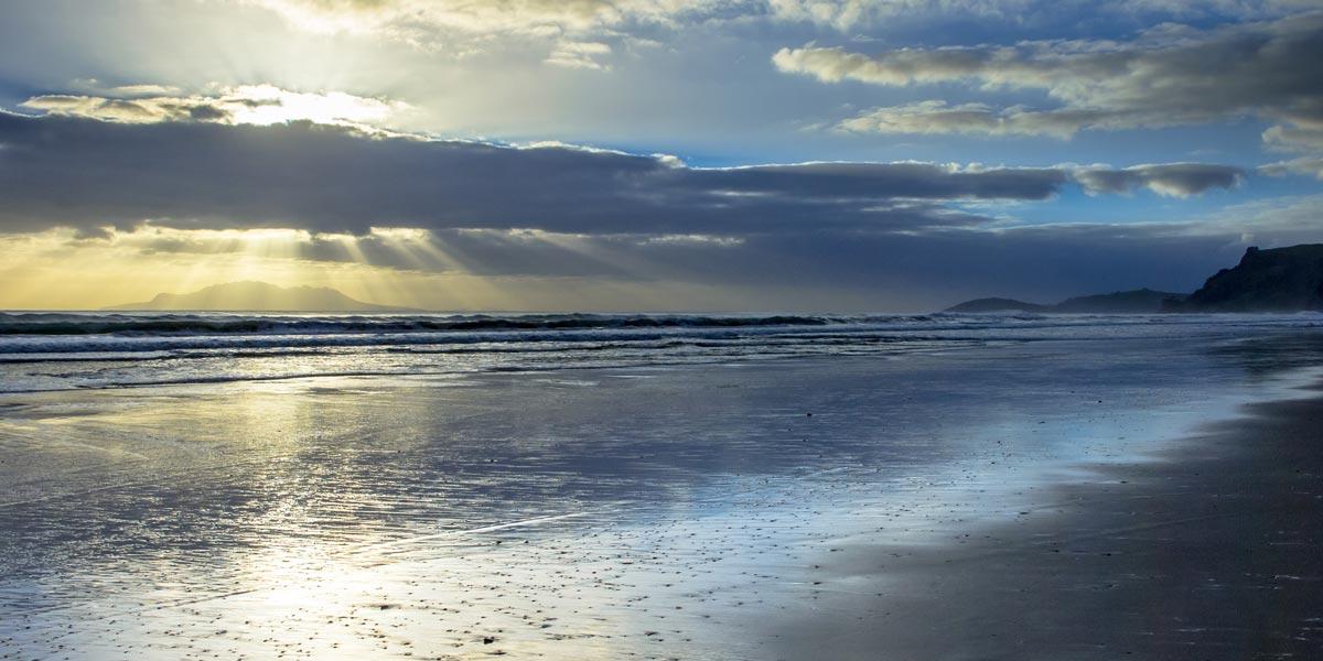 Pakiri Beach foreshore at sunrise