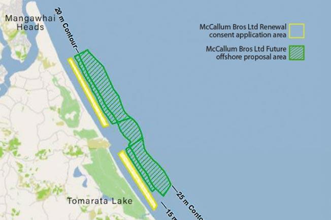 Pakiri Beach New Zealand sand mining consent renewal plan